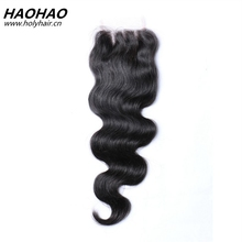 Shandong Qingdao Hair Factory Natural Color Cheap Free/Middle/Three Part Peruvian Virgin Hair Bundles With Lace Closure
