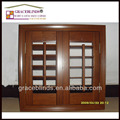 stain color L frame with 89mm louver basswood shutter