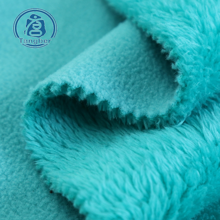 Knit Polyester Polar Fleece and Sherpa Fleece Bonded <strong>Fabric</strong>