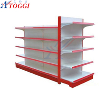 good display flat panel 5 layer supermarket shelf