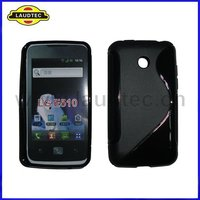 TPU Case for LG E510 Optimus Glare, S Line Wave Gel Silicone Cover