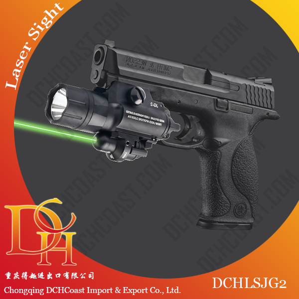 DCHLSJG2 420 Lumens Tactical Flashlight Green Long Distance Hunting Laser Sight for Picatinny Rail