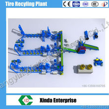 waste tyre recycling machine plant/rubber powder production line