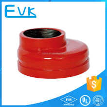 UL FM Ductile Iron Pipe Fittings Threaded Eccentric Reducer