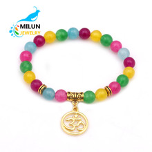 Wholesale alibaba New arrivals 2018 women's amber natural chakra healing stone bracelet