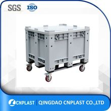 Heavy duty Hdpe Solid euro plastic crate stackable pallet crate for seafood