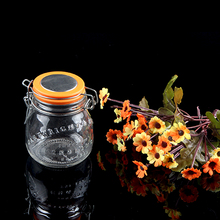 Low price high quality clear glass spice jar with clamp lid for food