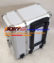 High quality ABS travel portable aluminum trolley case large tool box with wheels