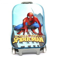 2014 Kids 3D Design Spiderman Trolley Hard Case Luggage