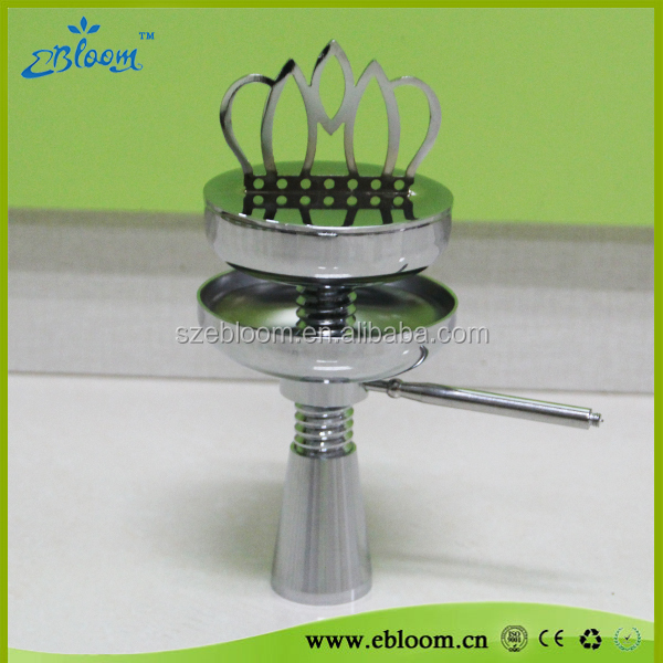 Luxury design crown bowl silicone hose amy hookah