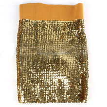 Sexy Mini Women Fancy Shine Glitter All-over Sequin Fitted Hot Short Skirts