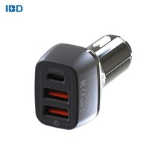 Korea Best Brand New IBD 3 in1 cell phone ev qc 3.0 car chargers with type c