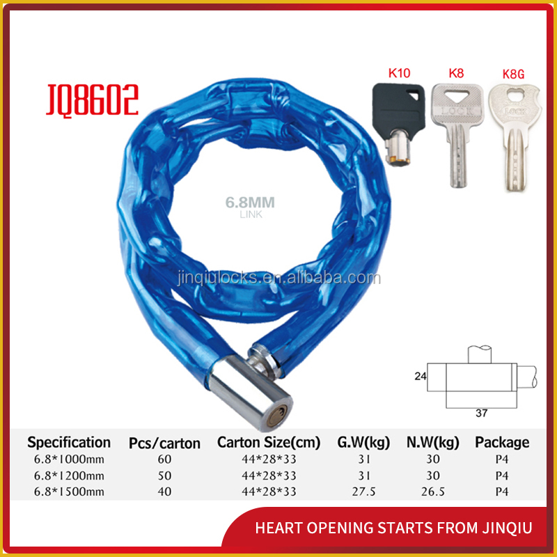 JQ8602 colored bicycle lock for sale