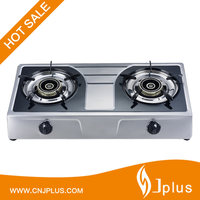 JP-GC209 Guangzhou 2 Burner Surper Blue Flame Natural Gas Stove Table Top