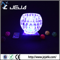 led base for memorial desk trophy, color changing crystal