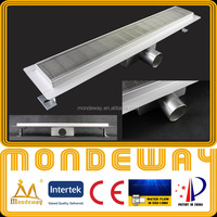 Hot pattern SS304 linear drain for European market length 700mm LUXURY SHINING or BRUSHED FACE french drainage channels