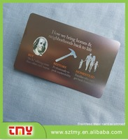 Direct factory metal engraved custom cheap metal business card