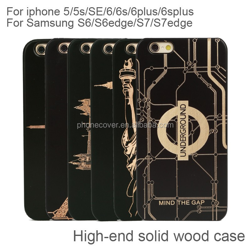 High quality standard Wood Bamboo phone case cover for iphone 5s