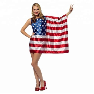 Women's USA Flag Dress Costume One Size Fits Most