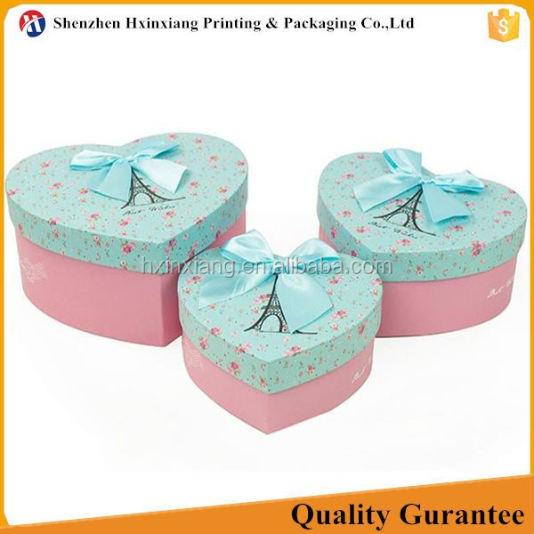 Heart shape fancy custom wedding favour carton box for mailing