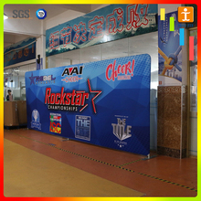 Fabric banner of trade show roll up display