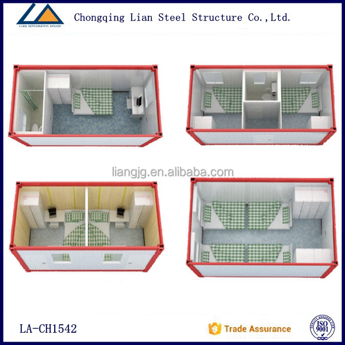 New 2015 Prefabricated glass house container living capsule hotel design