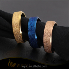 Stainless Steel Matte Polisehd Frosted Rings Rose Gold/Blue/Gold Rings For Women