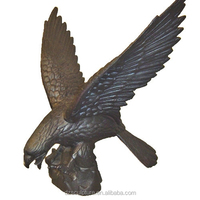 New products bronze garden statues eagle metal animal eagles