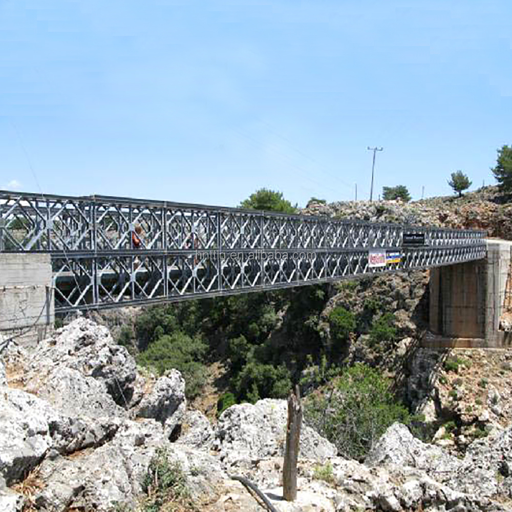 portable steel bridge 18m bailey bridge