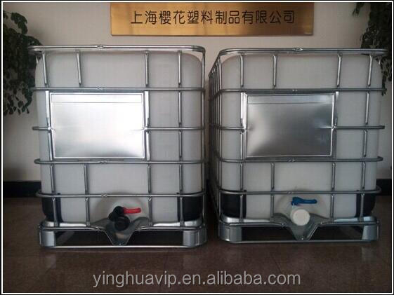 1000l hdpe square stainless steel ibc tank container