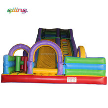 China top selling small size garden inflatable slide cartoon children's inflatable single lane slides for fun