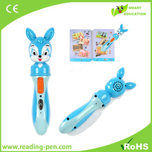 Bilingual language learning machine children sound book and reading pen
