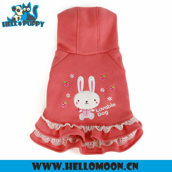 Winter Clothes Fleece Pink Dog Coats For Small Dogs