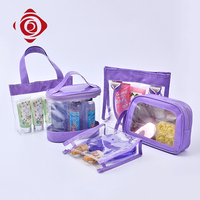 Fashion lady handbag cosmet travel plastic air conditioner cosmetic wash bag