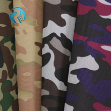 2017 High quality waterproof pvc coating oxford 100% polyester printed camo fabric