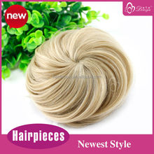 synthetic drawstring hair bun fake chignon