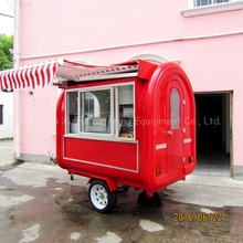 Colorful china fast food coffee trailers