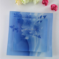 Tempered Glass Plate Glass Tea Board Square Glass Dishes