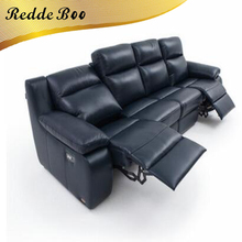 Best 3 seater leather manual chaise 2pc sectional recliner lounge sofa