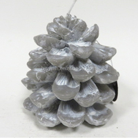 Christmas pinecone shaped candle, Art candle