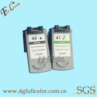 Hot sale!!good quality remanufactured ink cartridge for canon PG40 CL41