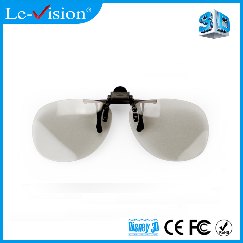 Polarizing film lens 3D Video Watching Passive 3D Glasses Clips for 3D 4D 5D 7D 9D Theater Equipment
