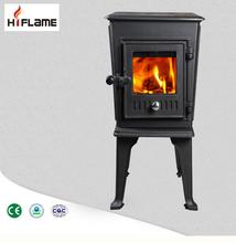 HiFlame Small Fireplace HF706 5KW Indoor Cast Iron Cheap Wood Stove For Sale