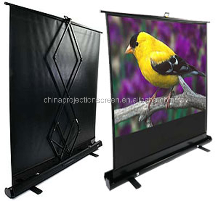 Portable floor up projection screen portable screen for for Motorized floor up screen