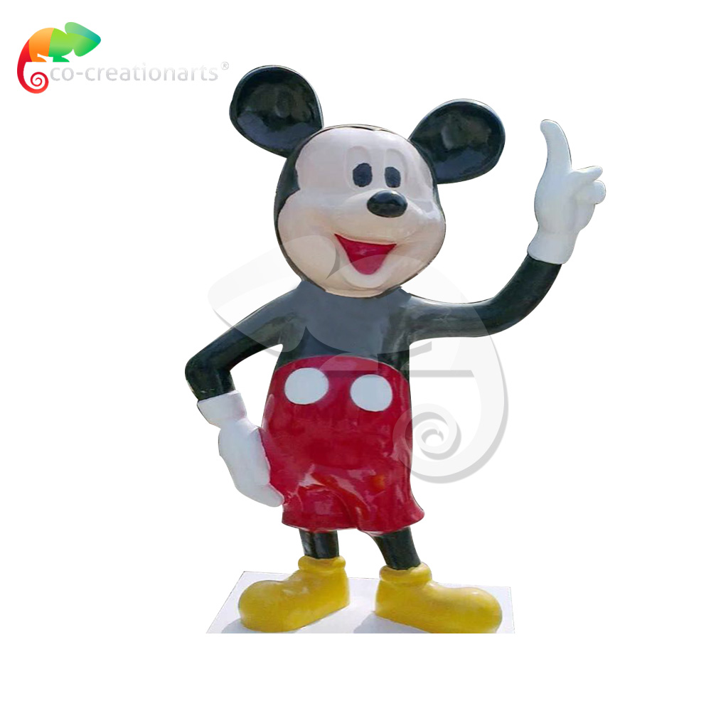Fiberglass minkey mouse for theme park decoration