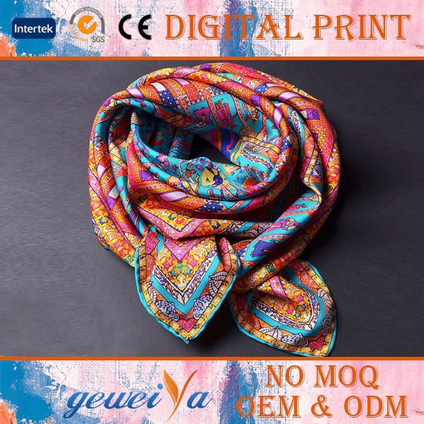 Designer 100% Digital Silk Scarves