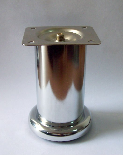 Angled metal furniture leg cover
