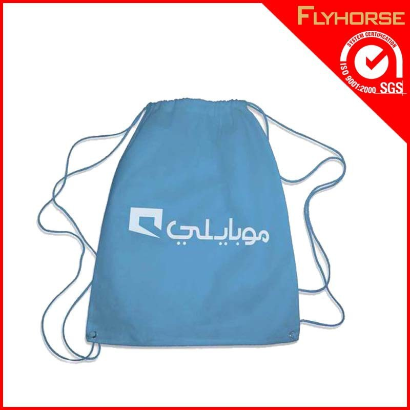 Customized polyester drawstring promotion bag