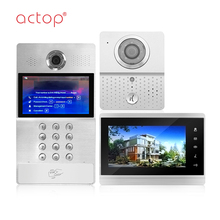 ACTOP cat5 / 4 wire video door phone /intercom system for large apartment
