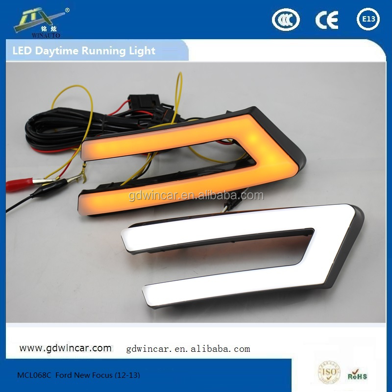 Useful Daytime Running Light Led With Strobe For Ford New Focus Car Led Driving Light